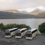 lochs and Glens coaches at Inversnaid