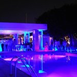 pool area by nigth