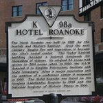 Historic sign outside the hotel.
