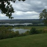View of the Mississippi River from the grounds.