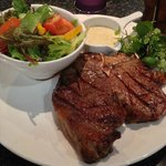 The 20oz T-bone at The Grill - cooked to perfection !