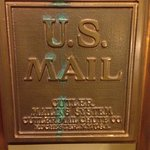 Mail chute plate on 2nd floor.  That's history!