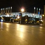 Progressive Field photo from front entrance of hotel.