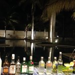 Some of the lobby/pool bar liquor selection