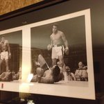 Photos in the Muhammad Ali suite