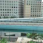 Bullet train view from the room