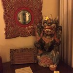 Balinese touches around the room