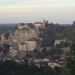 Early morning view of Rocamadour from the room.