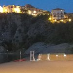 Agropoli on the hill, from the beach.