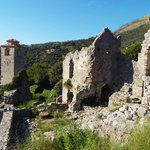 Ruined village of Stari Bar, about 4 km away.