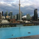 View from rooftop pool & bar