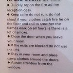 In case of fire, ignore the bad English