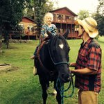 Pony rides are part of our supervised recreation program twice a week.