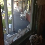 Porch of motel..