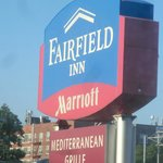You can't Miss the Fairfield Inn Sign Board