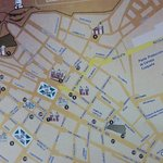 Cuzco city map.  The hotel located in top right. . Gives you an idea of how far it is to walk to