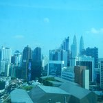 View from our Hotel indow of the Petronas Towers