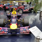 lots of F1 cars on display