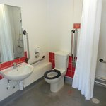 Ensuite shower bathroom adapted for the disabled.