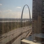 View of the Arch from Room on 15th Floor at Hampton