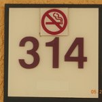 Room Number, this was a non-smoking room. Glad to have this.