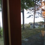 view from the patio doors front of cottage