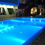 swimming pool at night!!!