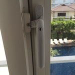 Safety is a priority at the Grand Ixora. Our window was screwed shut to prevent accidental falli