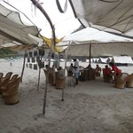 Common tent for food and briefing