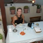 Dining on the roof top terrace with views to Selcuk town