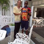 Mr Wannarat Ninsan and myself at the Andaman Sea view hotel, the ONLY place to stay in Phuket, w