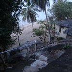 access to the bungalows from the beach