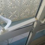 This is the lock on the patio door on the ground floor! Safe and secure... I think NOT
