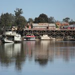View down the river from Moama side