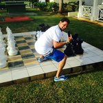 My babe and I about to play chess :)