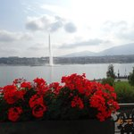 VIEW FROM THE PRESIDENTIAL SUITE BALCONY OF HOTEL D'ANGLETERRE IN GENEVA, 3RD FLOOR, OCTOBER 201