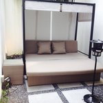 Outdoors private bed