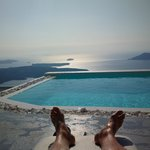 The highest pool in Santorini