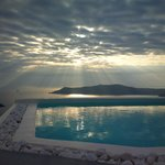 Senset over the pool