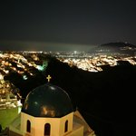 View of Fira at night