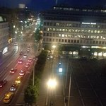 fabulous view from my room over the square and towards central Stockholm