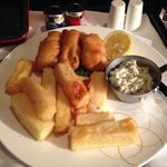 Superb room service - excellent fish and chips!