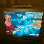 Old TV, with apologies to Carol Kirkwood.