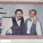 Photo in kitchen.  Gorgeous young Giorgio is on right.