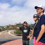 Alex pointing out sites over near Mission Bay from atop Mt. Soledad