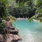 My son Louis enjoying the Tropical Pool