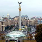 Maidan Square from Hotel Ukraine