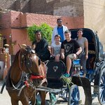 Horse carriage to Luxor Temple