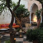 One of the beautiful courtyard salons