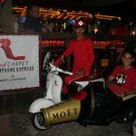 First ride on my 14th Birthday on Red Carpet's Champagne bottle bike.